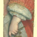 Fragment van vroeg 17e eeuws portret, dat lag in het veilingboek 1834, toegeschreven aan Jacob Gerritszoon Cuyp.